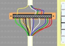 Filter voor elektrodraden. royalty-vrije illustratie
