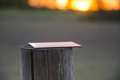 Filter on a wooden post. Filter on an old wooden post Royalty Free Stock Images