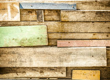 Filtered,Disorder Tropical wooden wall,wooden paint with color Royalty Free Stock Image