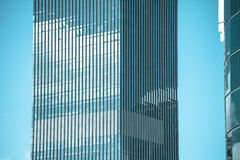 Filtered glass window pattern  Office building Stock Photography