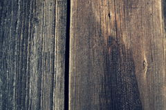 Filtered horizontal vintage photo of old wooden boards background Royalty Free Stock Photography