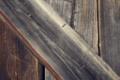 Filtered horizontal vintage photo of old wooden boards background Royalty Free Stock Photos