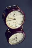 Filtered picture of a vintage alarm clock Royalty Free Stock Photos