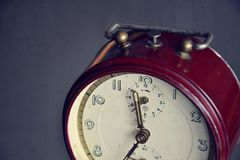 Filtered picture of a vintage alarm clock Royalty Free Stock Image