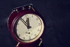 Filtered picture of a vintage alarm clock Royalty Free Stock Images