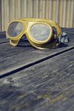 Filtered picture of a vintage safety glasses Stock Image