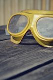 Filtered picture of a vintage safety glasses Royalty Free Stock Images