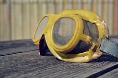 Filtered picture of a vintage safety glasses Royalty Free Stock Image