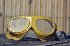 Filtered picture of a vintage safety glasses Stock Photos