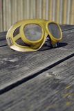 Filtered picture of a vintage safety glasses Royalty Free Stock Photos