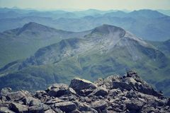 Filtered view from the Ben Nevis summit Stock Image