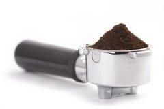 Filterhalterung für Kaffeemaschine Lizenzfreies Stockfoto