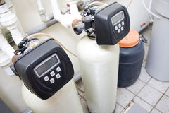 Filternsystem des Wassers Stockfotos