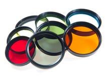 filters mångfärgat Arkivfoto