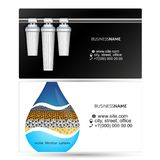 Water filters visiting card. Filters for water purification visiting card concepts Royalty Free Stock Image