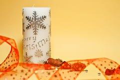 Filterstreifen und Kerze lizenzfreies stockfoto