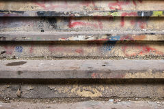 Filthy and dirty stairway Stock Image