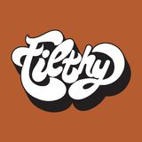 Filthy. Vector handwritten lettering Royalty Free Stock Images