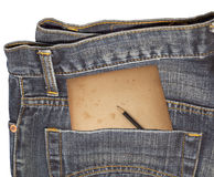 Filthy_Jean_Pocket_isolated Royalty Free Stock Images