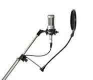filtr odizolowywający mikrofonu wystrzału studio zdjęcia royalty free