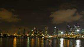 Filtração do lapso de tempo do porto do estaleiro da autoridade de Singapura filme