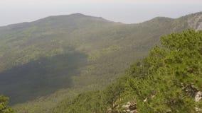 Filtrado de paisaje verde de la montaña de las montañas del tiro metrajes