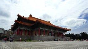Filtrado del tiro del teatro nacional Pasillo de Chiang Kai-Shek Memorial Hall en Taipei, Taiwán almacen de video