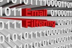 Filtrage d'email illustration libre de droits