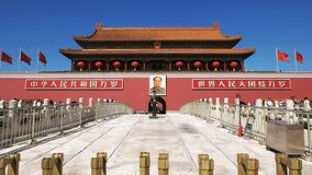 Filtrage du tir de la porte de la paix merveilleuse, Place Tiananmen clips vidéos
