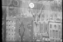 Filtrando sui grattacieli con l'elevatore sovrapposto abbottona accendersi archivi video