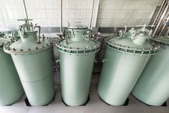 The filtration unit, the industrial filtration system for liquids. Stock Photography