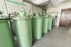 The filtration unit, the industrial filtration system for liquids. Royalty Free Stock Photography