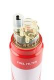 Filtre à essence rouge Photos stock