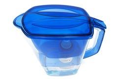 Filtre d'eau bleue Photos stock