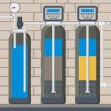 Filtre d'eau dans l'illustration coupée de vecteur de bande dessinée illustration libre de droits