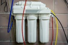 Filtre d'eau industriel photographie stock