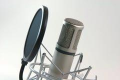 Filtre de microphone d'enregistrement Photos libres de droits
