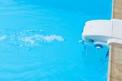 Filtre et jet de piscine Image libre de droits