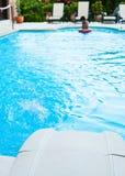Filtre et jet de piscine Image stock