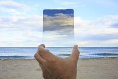 Filtre gradué de neutre-densité dans le ciel Photographie stock libre de droits
