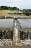 Filtre industriel de mécanisme de traitement d'eaux usées Photographie stock