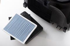 filtre sale de la poussière fin de filtre d'aspirateur  image libre de droits