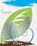 Filtre vert Photos stock
