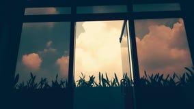 Filtrerade moln Arkivbilder