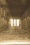 Filtrerat Abandoned förstört industriellt fördärvar inom Fotografering för Bildbyråer