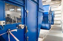 Filtres à tambour industriels pour les déchets de traitement Photo libre de droits
