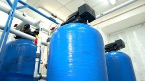 Filtres d'eau ? l'usine image libre de droits