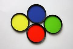 Filtres, rouge, jaune, bleu et vert Photo libre de droits