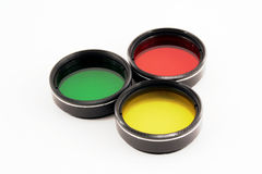Filtri da colore del telescopio Fotografia Stock
