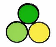Filtri da colore per la macchina fotografica Immagine Stock